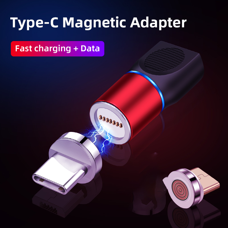 3A Fast Charging Type C Female To Male Converter New Type C Magnetic Adapter For Android Type C Transfer Micro USB Connector