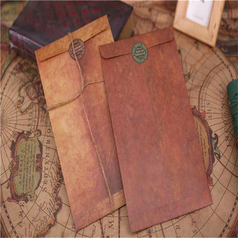 Vintage Envelope 1PCS Creative Kraft Paper Envelopes DIY Decorative Envelope Small Paper School Office Supplies Message Card