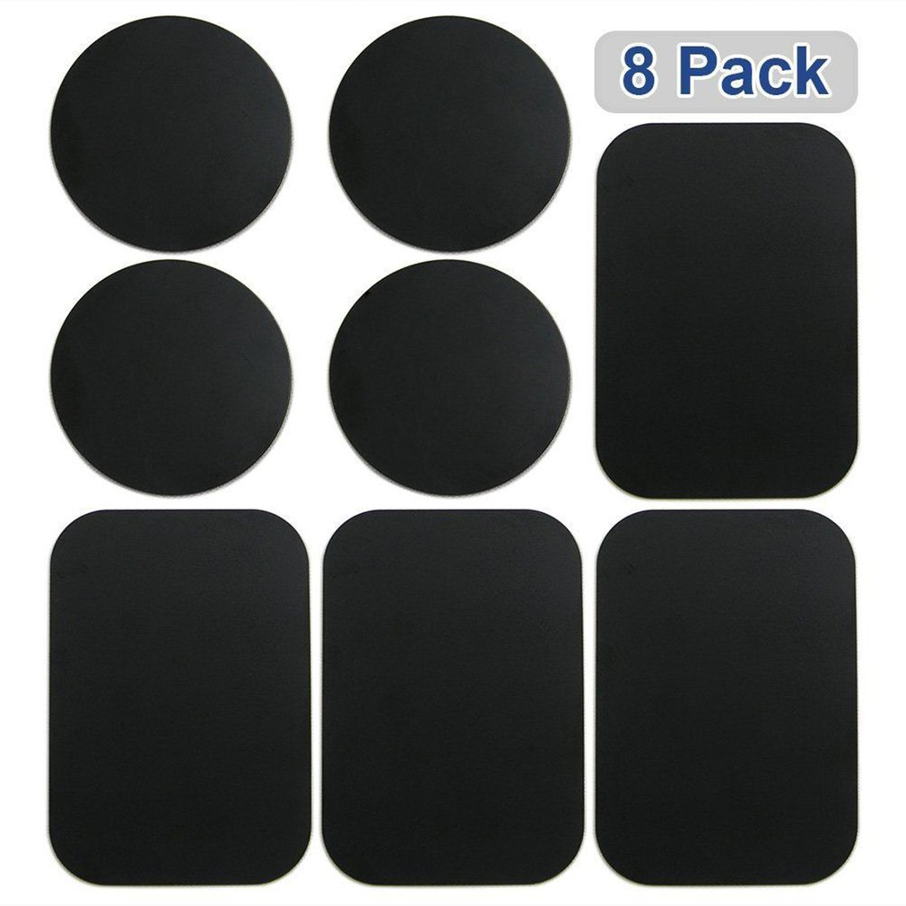 8pcs Metal Plates Sticker Car Mount Replace Metal Adhesive Plate For Magnetic Phone Car Holder Super Thin Steel Insert Plate