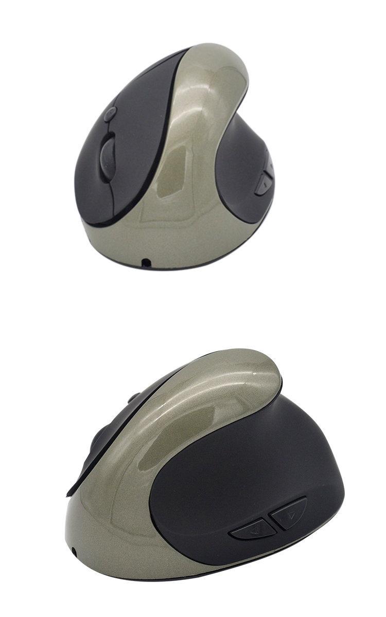 Мышь беспроводная Вертикальная с зарядкой 1600dpi эргономичная