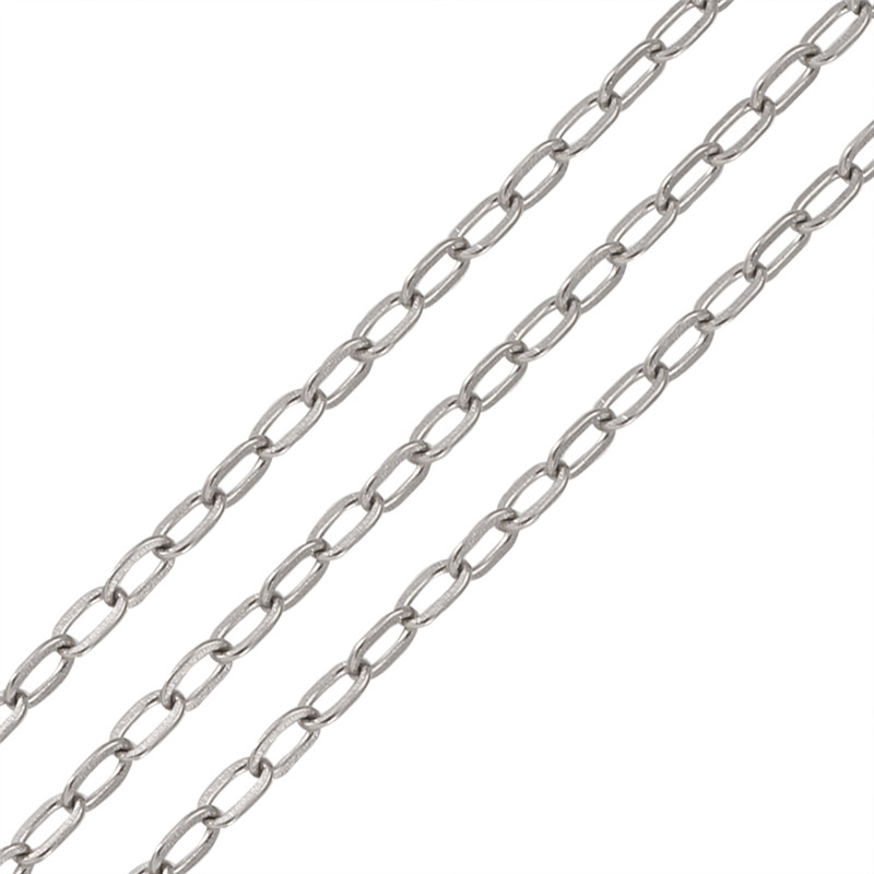 10M Silver Plated HOTSELL Links-Opened Cable Chains 2x3mm