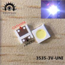 100 pces para wooree uni led backlight lcd tv grânulo 3 v 1 w 3535 led smd lâmpada grânulo 3535 branco frio WM35E1F-YR07-eB