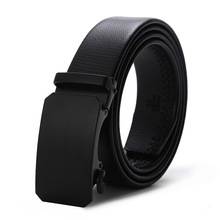 цена на Fashion Design Leather Genuine Belt Men Automatic Buckle Leather luxury Business Male Alloy buckle Belts for Men Ceinture Homme