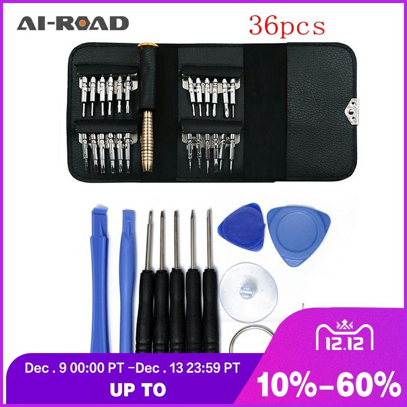 Leather Case 36 In 1 Torx Screwdriver Set Mobile Phone Repair Tool Kit Multitool Hand Tools For Iphone Watch Tablet PC 2019 New