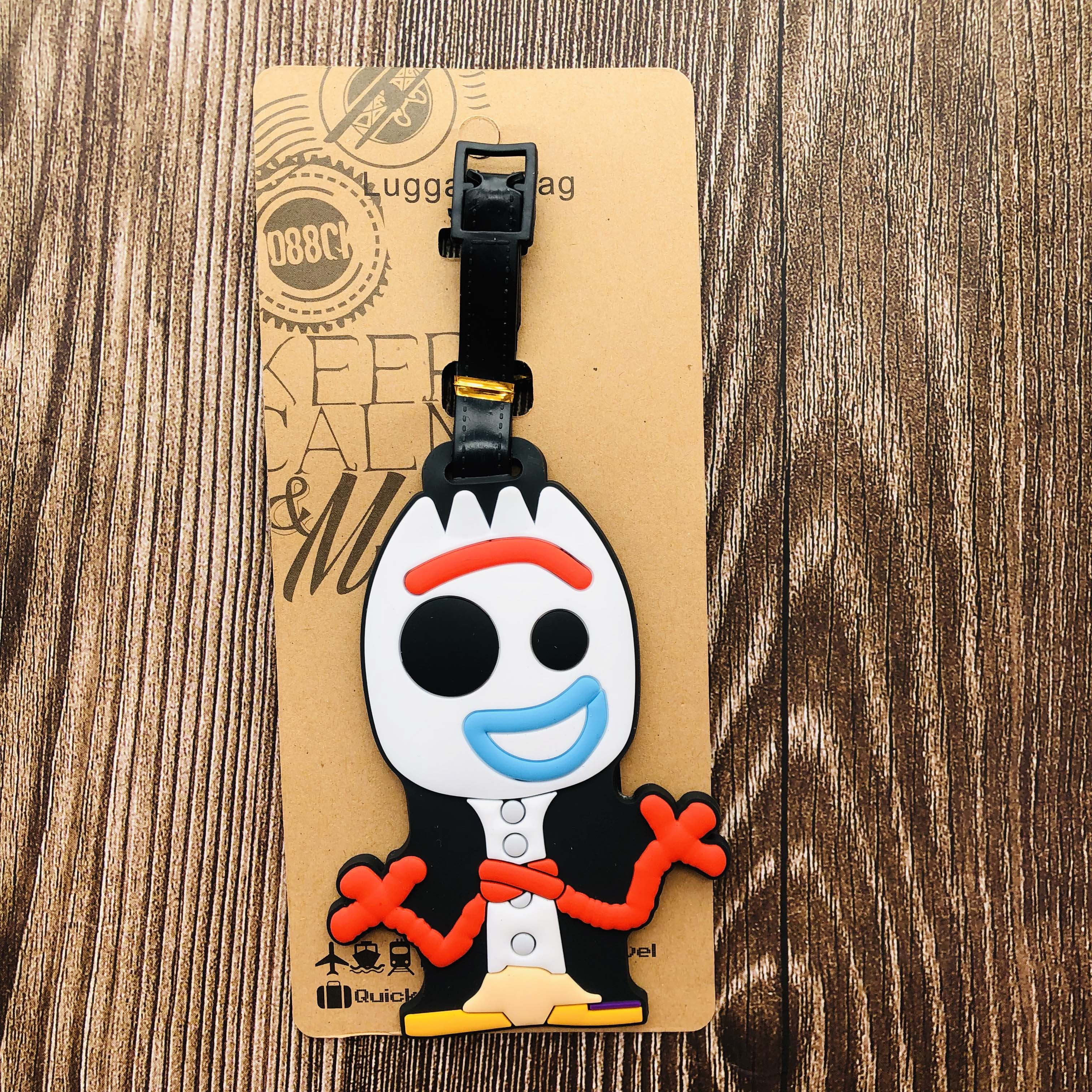IVYYE Toy Story Forky Anime Travel Accessories Luggage Tag Suitcase ID Address Portable Tags Baggage Labels Gift New