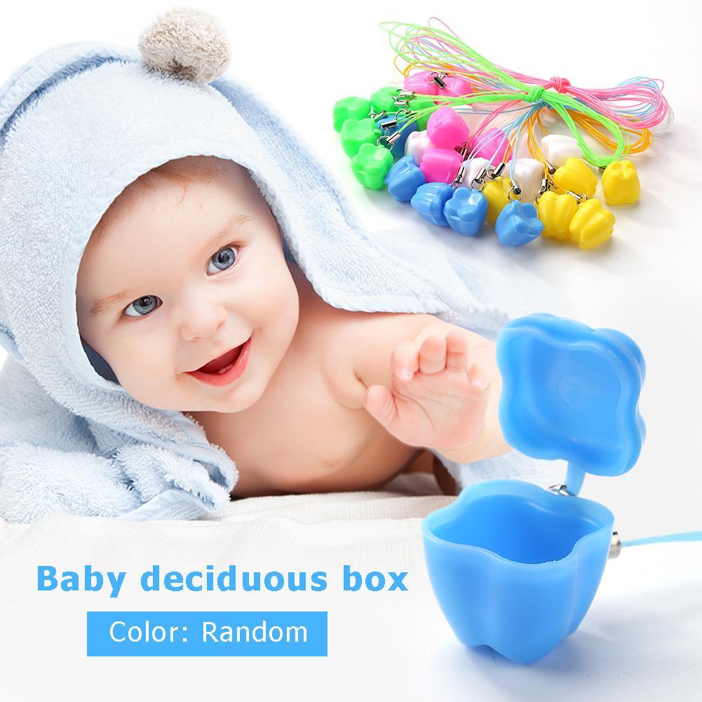 5pcs/set Baby Milk Teeth Storage Box Plastic False Teeth Organizer Case