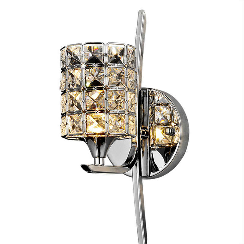 Modern Crystal Wall Lamp Sconce E27 Bed Room Stairs Aisle Chandelier Wall Light Fixture Shade For Home Decor Luminaire