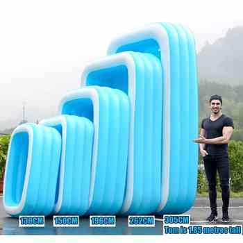 Piscina inflável para adultos, banheira grossa para piscina, área interna, 110cm-305cm