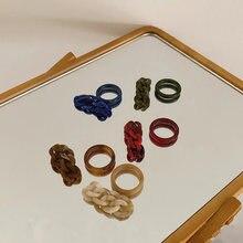 Корейские винтажные 2 шт/компл геометрические круглые кольца