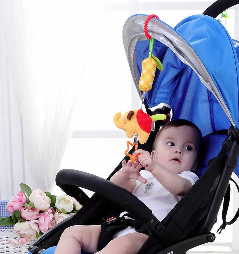 Cuna suave infantil, cama, cochecito, sonajero colgante móvil, juguetes para bebé, Rana, elefante, búho, gato, carrito de juguete de felpa de 0 a 12 meses, educativo para recién nacidos