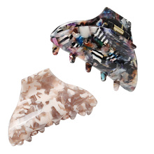 7cm Hair Crab Clamp Marbling Assorted Medium Claw Fashion  Cellulose Acetate Clip High Quality Accessories