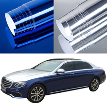 цена на 152cm x 20cm The newest High stretchable mirror silver Chrome Mirror flexible Vinyl Wrap Sheet Roll Film Car Sticker Decal Sheet