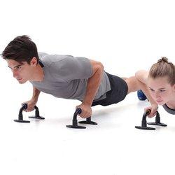 1 para Push Up bary naciśnij Up Bar uchwyt piankowy ćwiczenia Push Up klatki piersiowej Fitness Push Up wspornik na dach wsparcie stalowy stojak na fajkę|Stojaki typu push up|   -