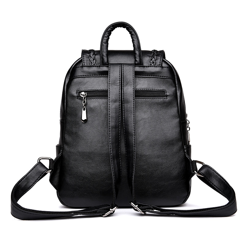 Image 4 - Brand New Female Backpack Women Backpack Leather School Bag Women Fashion Designer Leather Bagpacks for Girls 2018-in Backpacks from Luggage & Bags