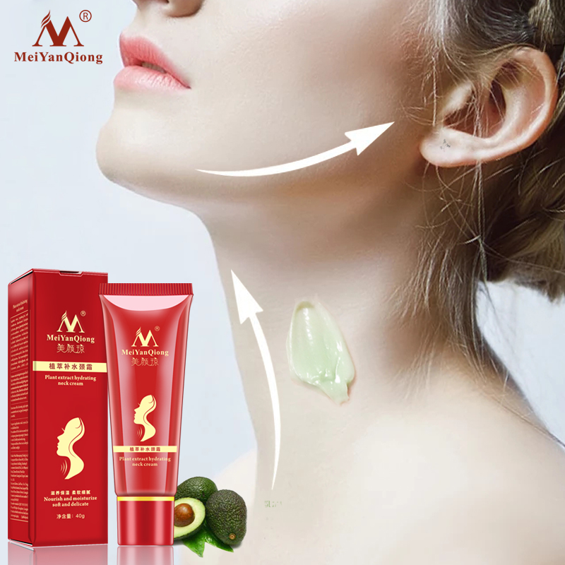 Hydrating Neck Cream  Fade Fine Lines Nourish Moisturizing Soft Delicate Reduce Double Chin Shea Butter Extract Neck Care TSLM2