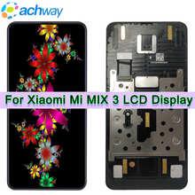 AMOLED Xiaomi Mi Mix 3 LCD ekran dokunmatik ekran Digitizer Mi Mix 3 LCD meclisi için çerçeve ile Xiaomi mi MIX3 LCD ekran