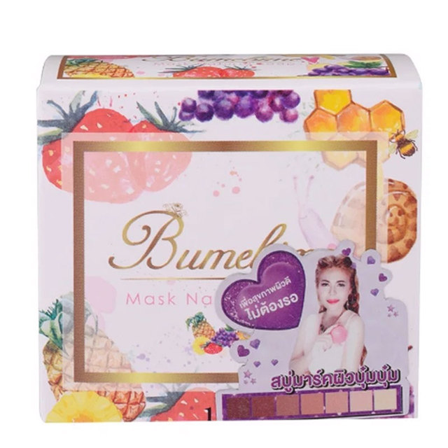 Instant Miracle Whitening Soap Thailand Bumebime Handmade Soap White Skin Natural Soaps Bath Fruit Essential Oil Soap 100g 2