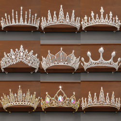 Crystal Rhinestone Crown and Tiaras Wedding Accessories Crown Hair Accessories For Women Queen Diadem Bridal Head jewelry Tiara