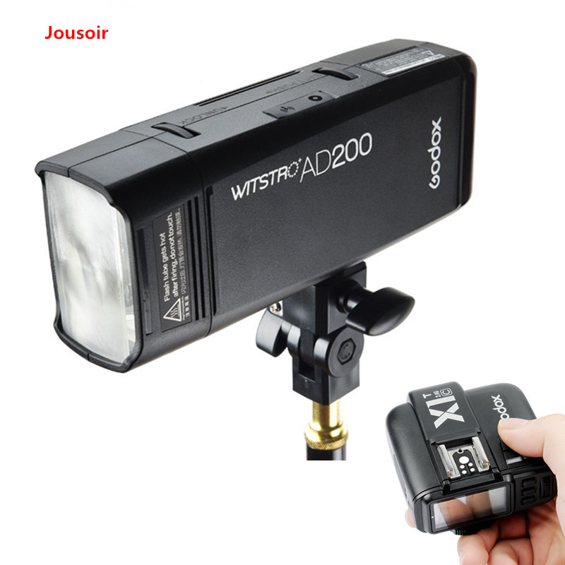 Godox AD200 200Ws GN60 HSS Pocket Flash + Godox X1 T Transmitter for 5 Kind of Camera Brand for C/N/S/F/O CD45Y|Flashes| |  - title=
