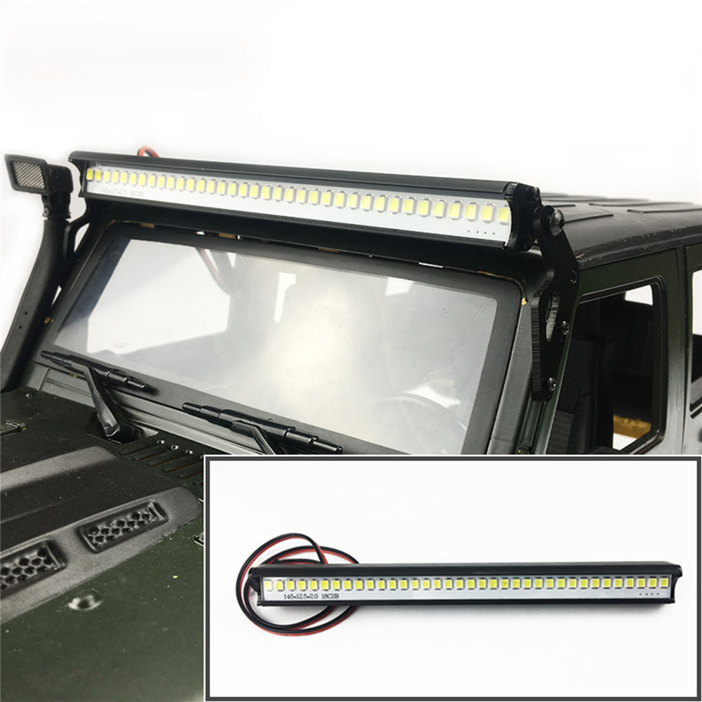 ​36 LED Light Super Bright Roof Bar For 1/10 Axial SCX10 Jeep Wrangler 90046 90047 TRX4 RC Crawler Car Parts Accessories