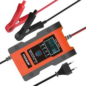 Image 1 - Foxsur – chargeur Intelligent de batterie au Lithium 12V/24V 6amp, pour voiture et moto, automatique, 7 étages, plomb acide