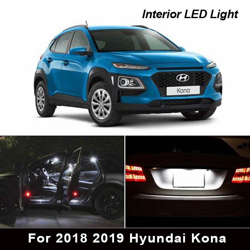 12 шт. Canbus Внутренние светодиодные лампы посылка комплект для 2018 2019 Hyundai Kona перчаточный ящик карта багажник номерной знак|Сигнальная лампа|   | АлиЭкспресс