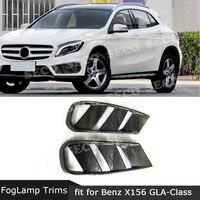 Carbon Fiber Front Bumper Air Vent Cover Fog lamp Mesh Grill Frame for Benz GLA Class X156 GLA 200 GLA260 GLA45 2014 2016 FRP