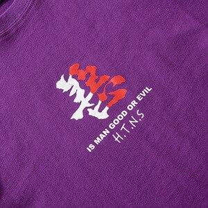 Image 5 - Camiseta de algodón de manga corta para hombre, ropa de calle con estampado del bien y el mal de Hip Hop, camiseta de personaje chino Harajuku, 2020