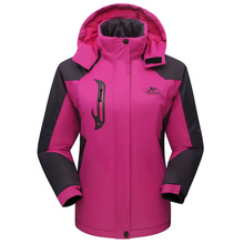 Clothing Hooded Couple Mountaineering Warm Cold Autumn Outdoor-Riding And Winter Solid-Color