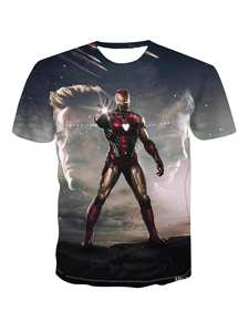T-Shirt Short-Sleeve Marvel Cool Trend Character Popular Men's Personality Fashion Cartoon