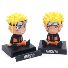 Naruto Uzumaki car decoration with Mobile phone base japanese car accessories car shake head acessorios fun gifts for friends