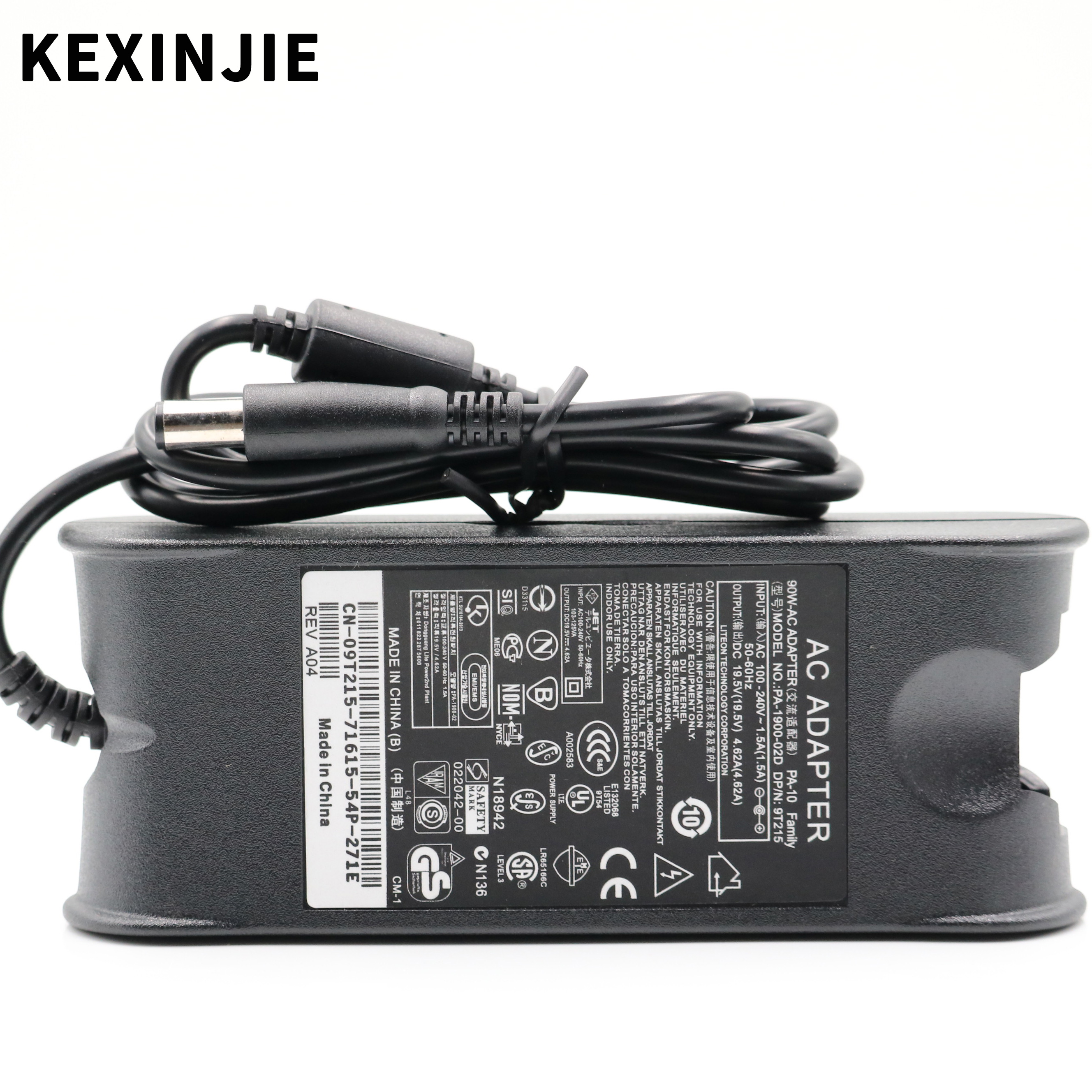 19.5v 4.62a 90w 7.4x5.0mm laptop adapter charger for dell inspiron 15 (3520) (3521) power supply