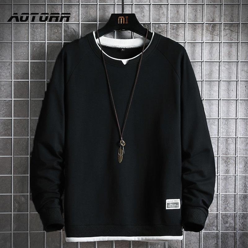Толстовка мужская свободного покроя, пуловер в стиле хип-хоп, уличная одежда, повседневная модная Корейская толстовка с капюшоном, Свитшот ...