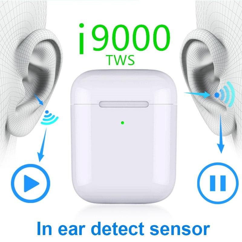 I9000 tws 1:1 inteligente sensor 8d baixo pop up carregamento sem fio bluetooth fones de ouvido fone 8d super bass pk w1 i200 i2000 i5000