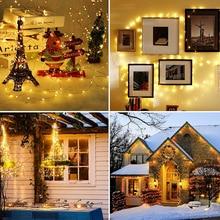 Строка огни медь провод фея огни 100% 2F200 светодиоды фея праздник рождество вечеринка гирлянда спальня интерьер свадьба украшение лампа