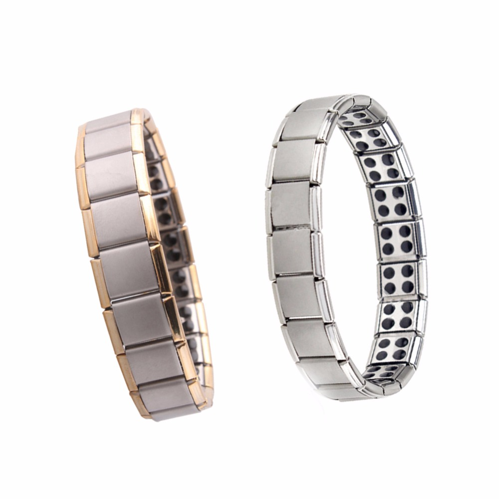 Healing Magnetic Bracelet Men Health Germanium Stretch Bracelet Jewelry Best Gift Stainless Steel Health Care Hand Chain Magnet