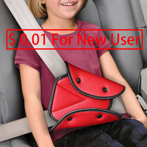 Universal Car Safe Seat Belt Cover Soft Adjustable Triangle Safety Seat Belt Pad Clips Protection for Baby Child Belts(China)