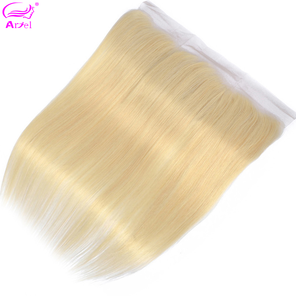 Ariel Lace-Frontal-Closure Remy-Hair Straight Brazilian 13x4 Ear-To-Ear