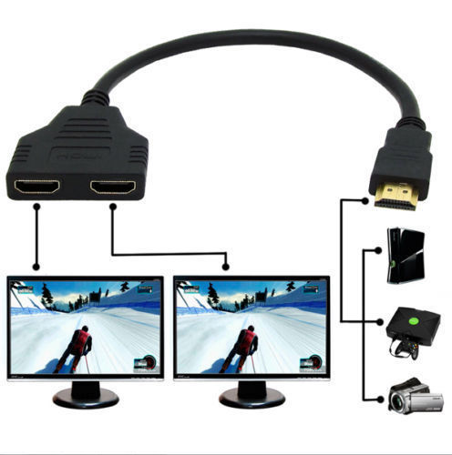 Stable 2-Port TV BOX Male Female Switcher Hub Signal Transfer LCD Monitor Durable For Projectors Converter HDMI Splitter Cable
