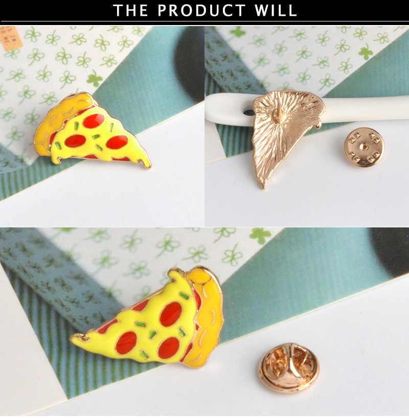 Ежедневные поставки нагрудные шпильки для пиццы хот-дог, яйцо, гамбургер, кости, броши, значки, рюкзак, милые булавки, ювелирные изделия, подарки для друзей