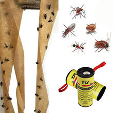32PC Effective Fly Paper Strong Sticky Glue Paper Insect Bug Catcher Killers Control Roll Tape Strip Home Garden Pest Repellents(China)