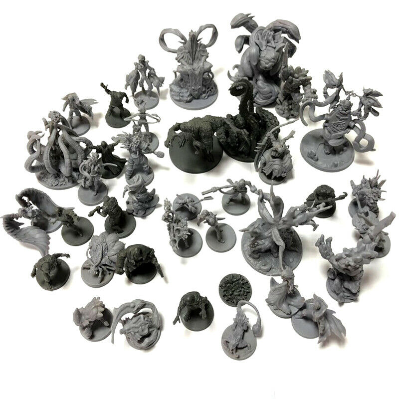 5pcs D&D Dungeons And Dragons Board Role Playing Games Miniatures Model Underground City Series Cthulhu Wars Game Figures Random