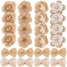 DIY artesanía Vintage rústico flores país boda Acción de Gracias mesa de Navidad centro de mesa de regalo caja de regalo decoración favor