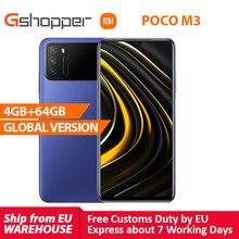 Xiaomi – téléphone portable POCO M3, Version globale, 4 go de RAM 64 go de ROM, Snapdragon 662 Octa Core, caméra 48mp, 6000mAh, écran FHD + de 6.53 pouces