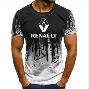 2019 Men High Quality S-6XL Renault Logo Printed Graphic Tops Size t-shirt novelty tshirt Camouflage Short Sleeve tshirt(China)