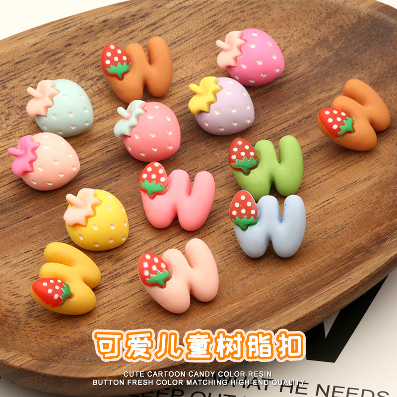 Objective 6pieces Candies Strawberry Cartoon Children Buttons For Clothing Kids Coat Sewing Accessories Sweater Decorative Needlework