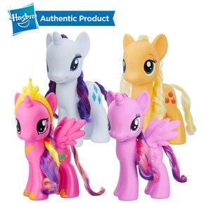 Hasbro-figura de acción de My Little Pony, Rarity Twilight, modelos coleccionables de PVC de 8 pulgadas y 22cm de Apple, Jack y princesas