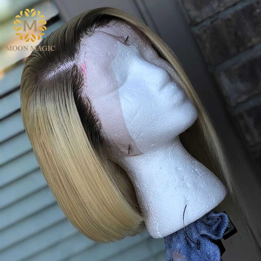 4/613 парик предварительно сорвал с Детские волосы кружева передние человеческие волосы парики прозрачный тупой стрижка боб парик 150 плотность