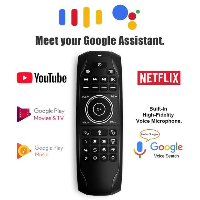 G7 v pro blacklit controle remoto giroscópio mouse de ar sem fio com microfone para x96 mini h96 max t95q tx6 android caixa tv