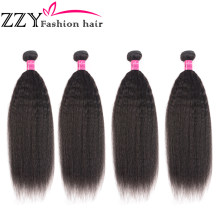 "ZZY Fashion Brazilian Yaki Straight Human Hair Weave Bundles Double Machine Weft Hair Extensions 10-28"" non-remy Hair Bundles(China)"